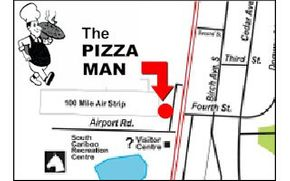 The Pizza Man location